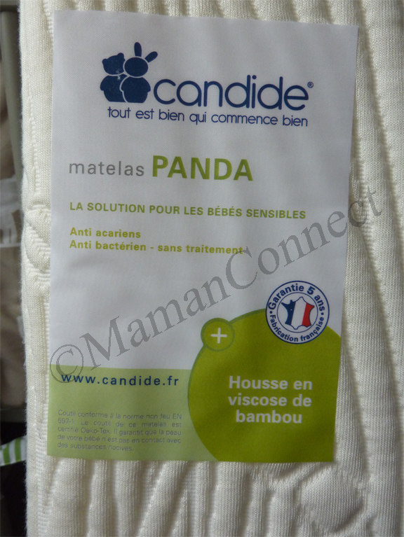 matelas panda candide maman connect. Black Bedroom Furniture Sets. Home Design Ideas