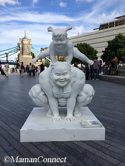 balade statue au bord de la Tamise