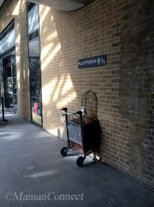 Platform 9 3/4 Harry Potter King Cross Station Londres