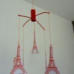 Mobile Tour Eiffel chambre d'enfant