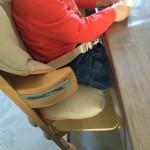 chaise haute sans tablette