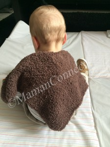 Poncho tricot vue de dos