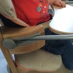 chaise haute avec tablette réglable