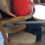 tablette réglable de la chaise haute