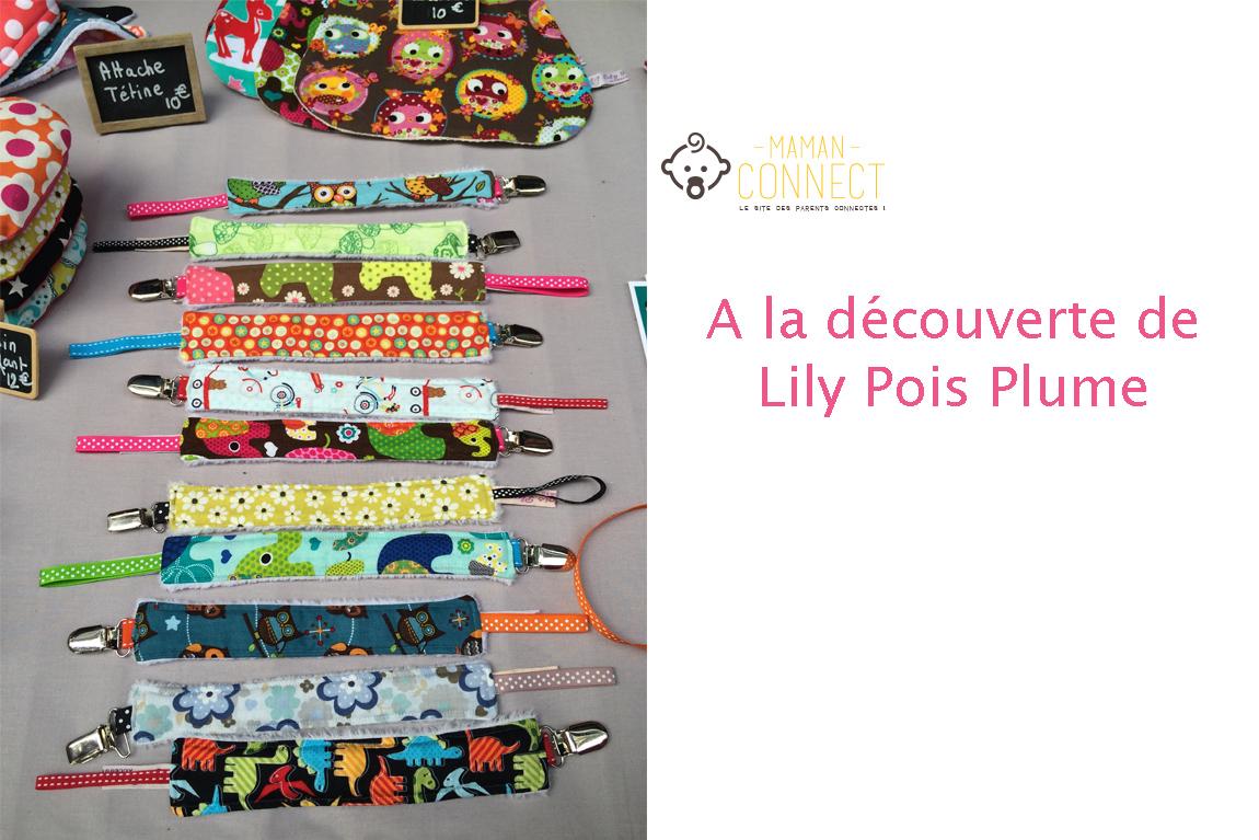 Lily pois plume accessoires textiles fait main maman for Maman connect