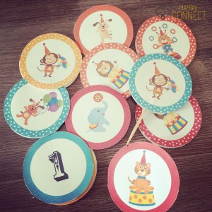 Cupcake toppers cirque