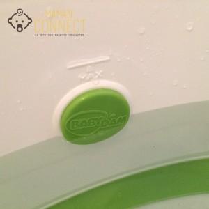 marqueur niveau d'eau réducteur de baignoire BabyDam