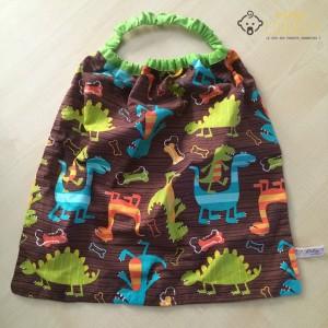 serviette élastique dinosaures