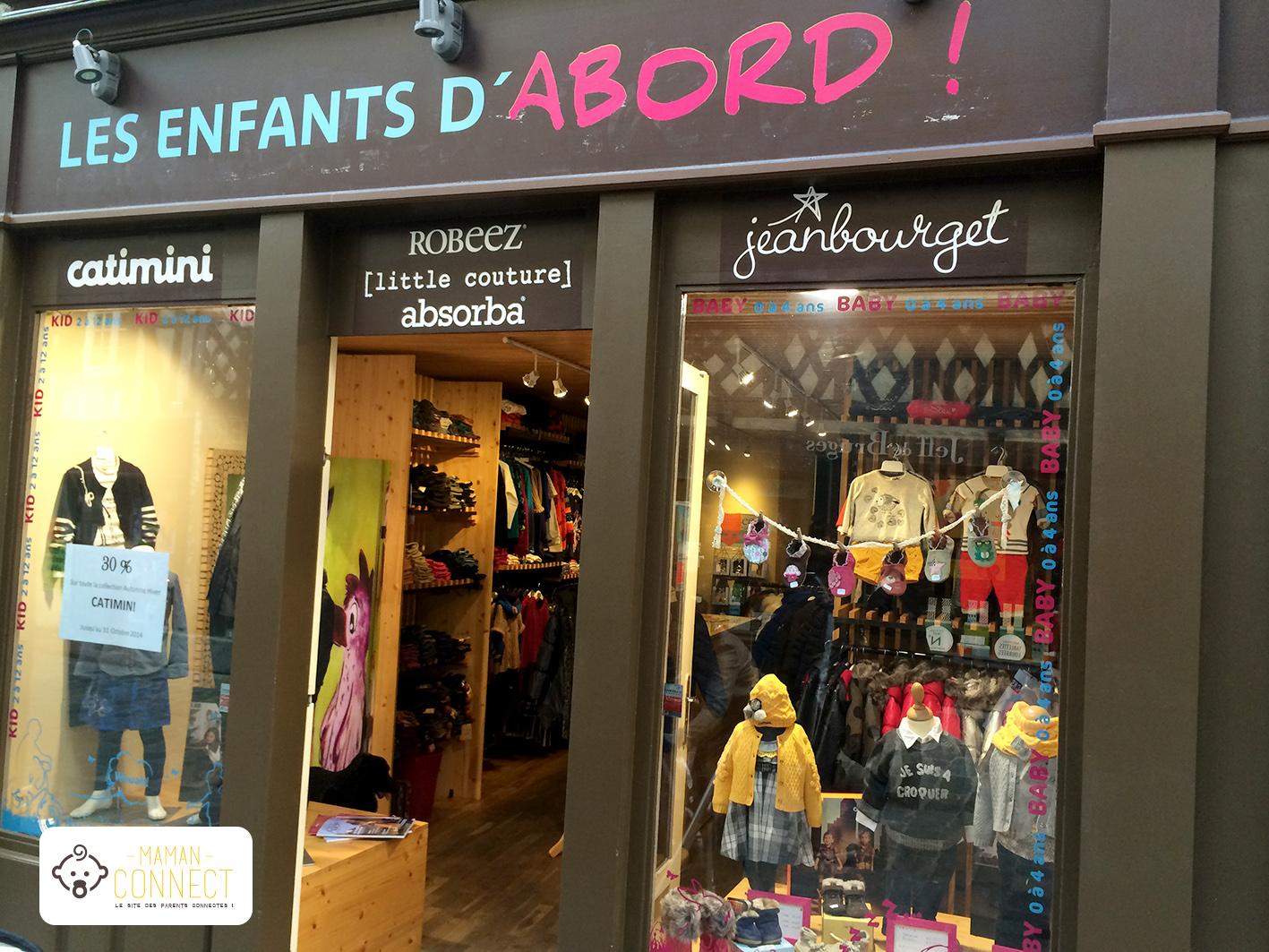 Vitrine Les Enfants Dabord Prêt à Porter Enfants Boutique Rennes - Pret a porter enfant