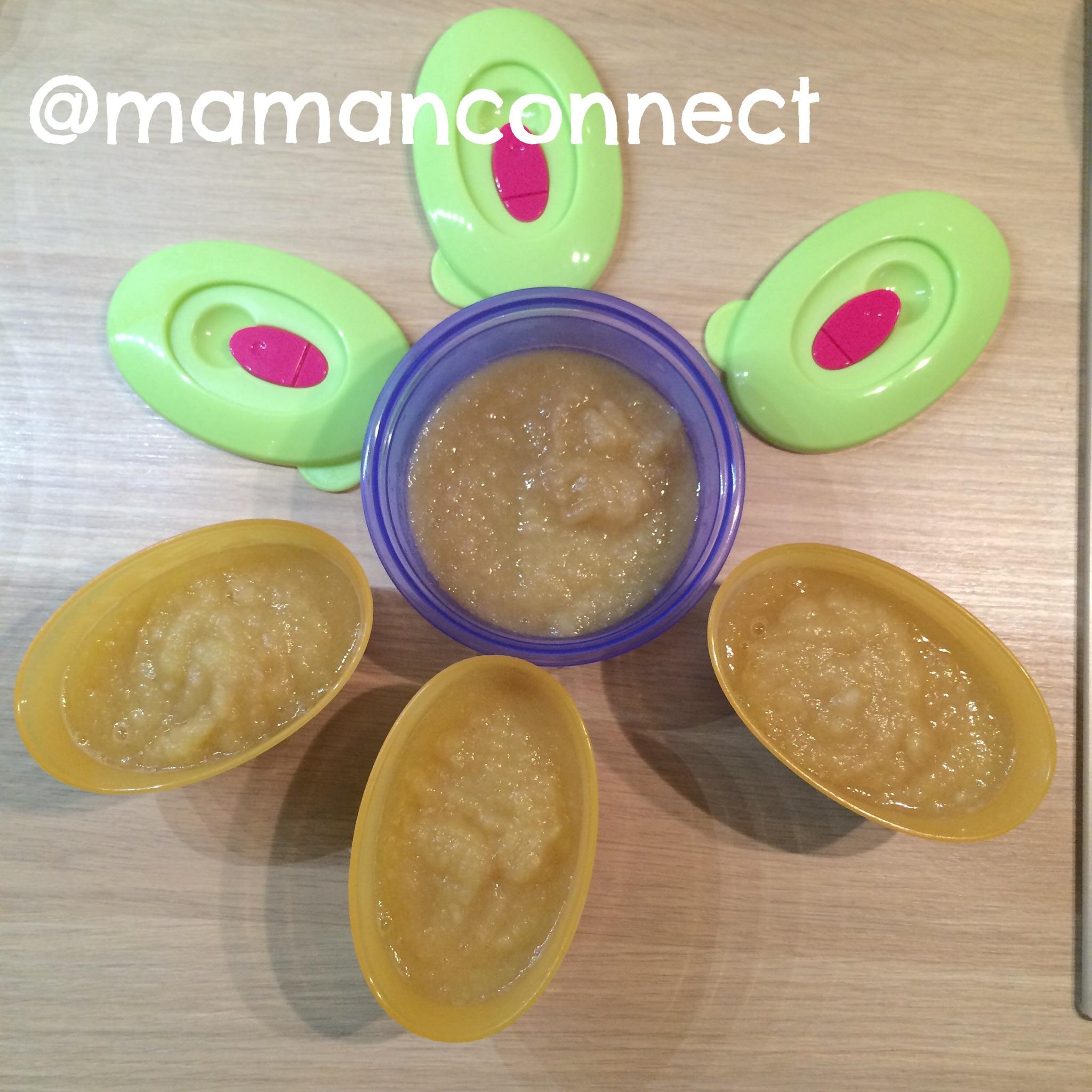 compote pomme poire pour bébé