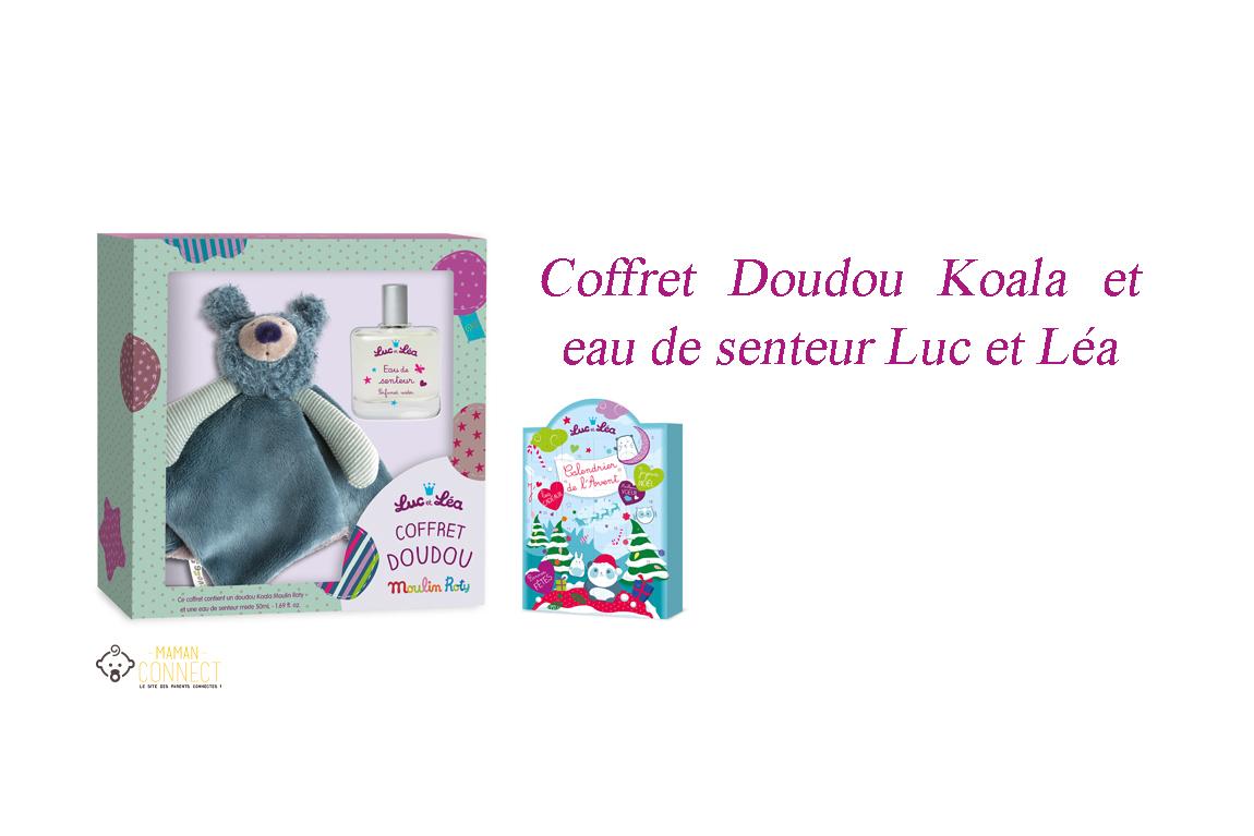 couffret doudou koala et eau de senteur luc et lea