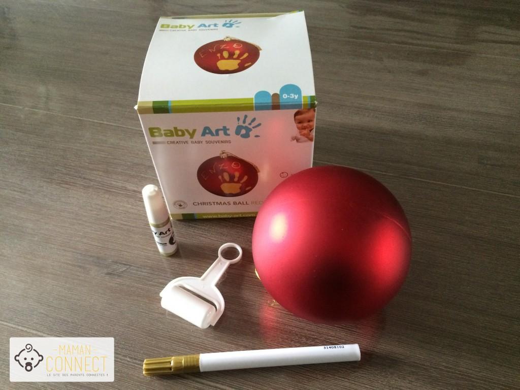 Kit boule de Noël Baby Art
