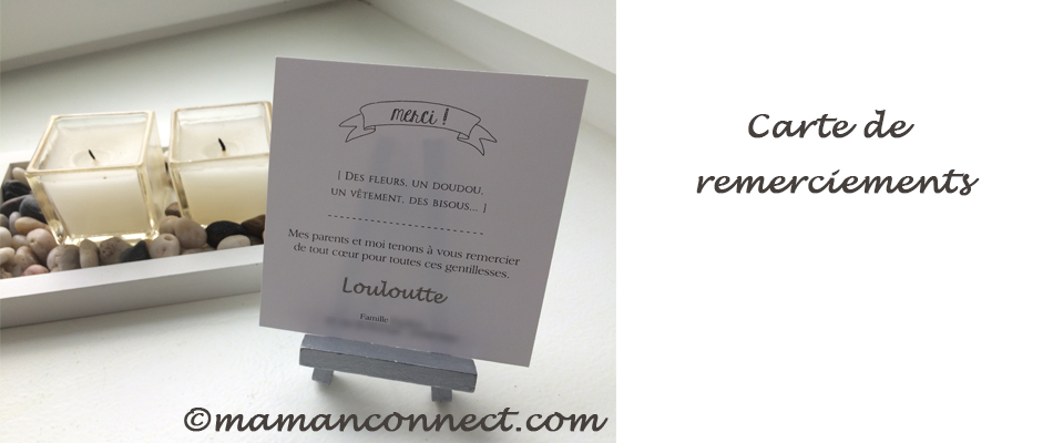 Carte remerciements maman connect for Maman connect