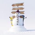 Tenue de ski pour bébé à la neige