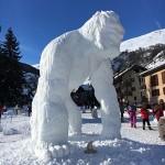 Sculpture sur neige yeti valloire championnant international