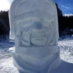 Sculpture sur neige valloire championnant international