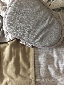 Echarpe PESN JPMBB coloris gris chiné olive réversible