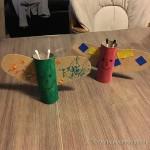 activité manuelle papillon carton