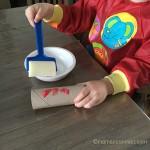 peinture au rouleau enfant
