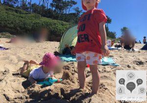 plage avec enfants