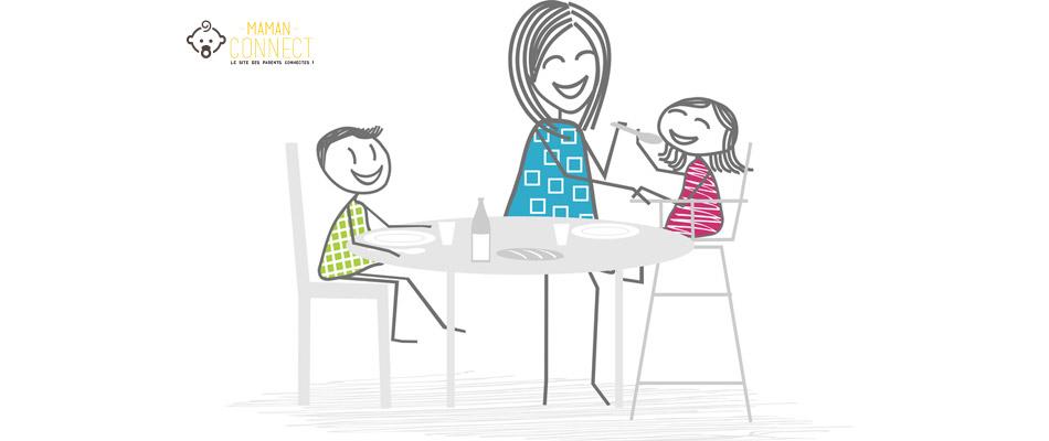 Nounou, assistante maternelle, maman et deux enfants