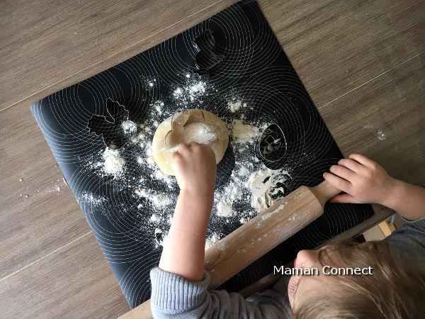 étaler boule pâte sablée