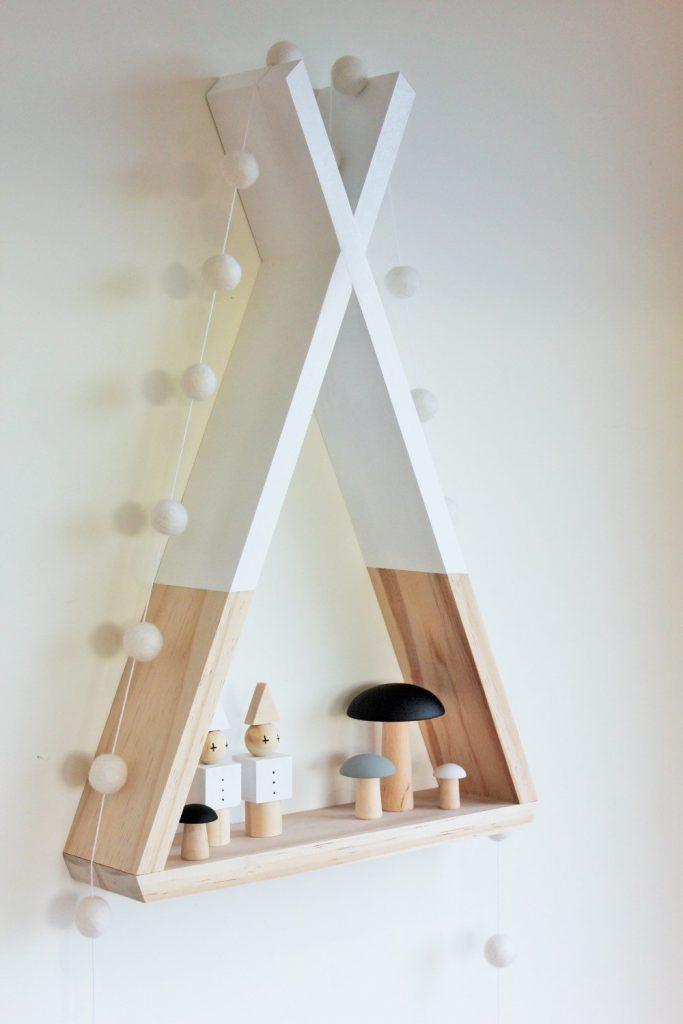 étagère tipi en bois blanche