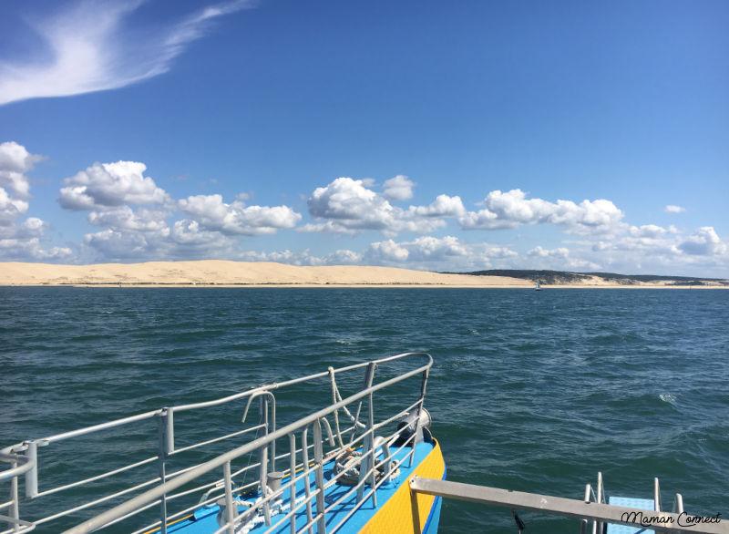 dune du pyla depuis la mer