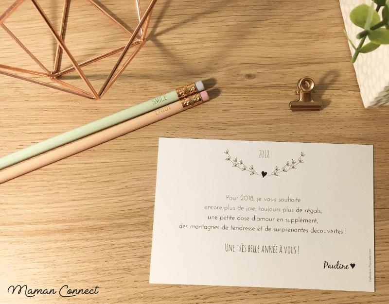 Texte carte de vœux