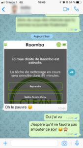 notification application roomba