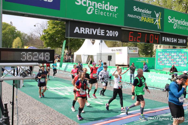 Arrivée marathon paris 2019