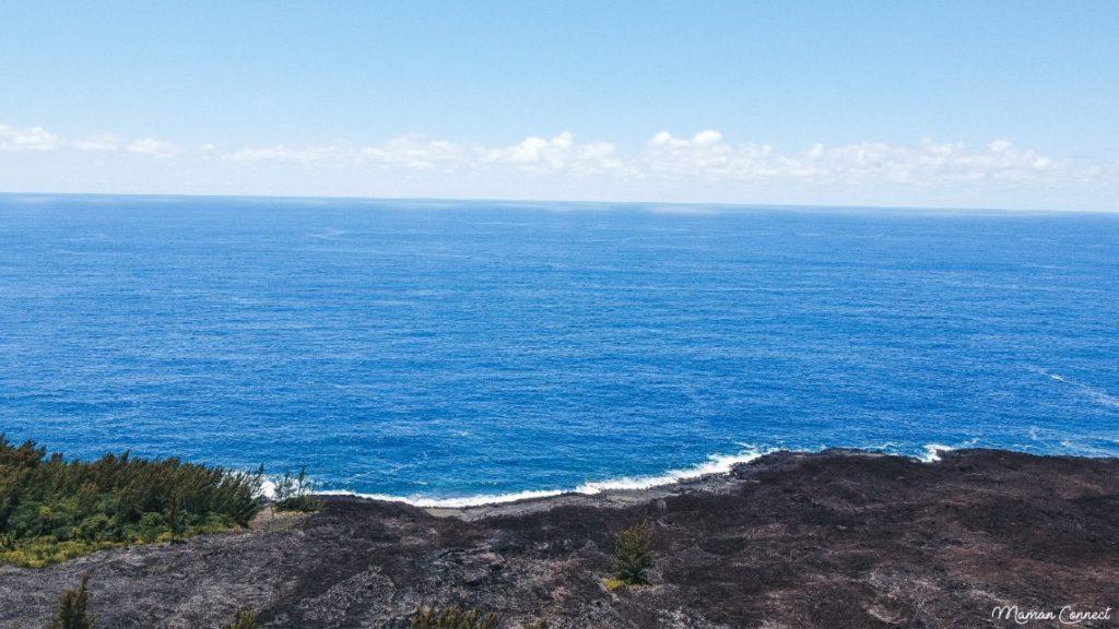 Coulée lave océan indien