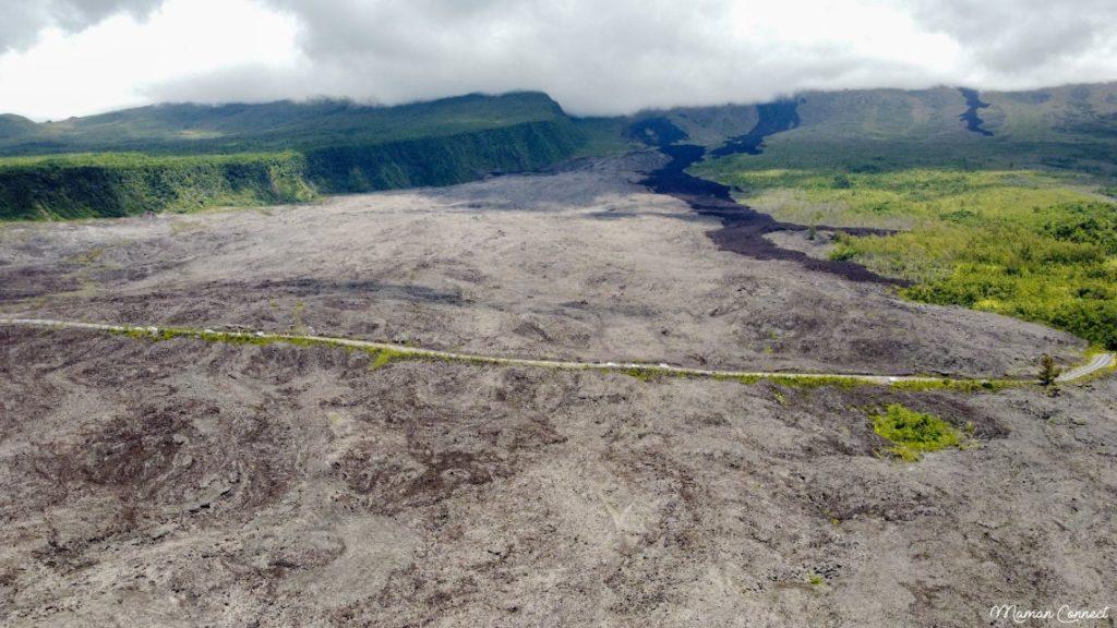 Coulée lave sud Réunion